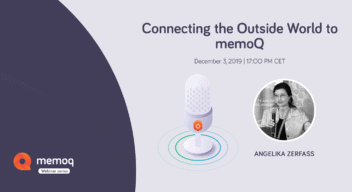 Connecting the Outisde World to memoQ - webinar
