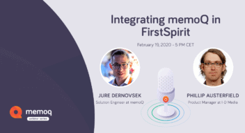 memoQ-FirstSpirit webinar