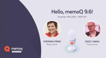 memoQ 9.6 webinar